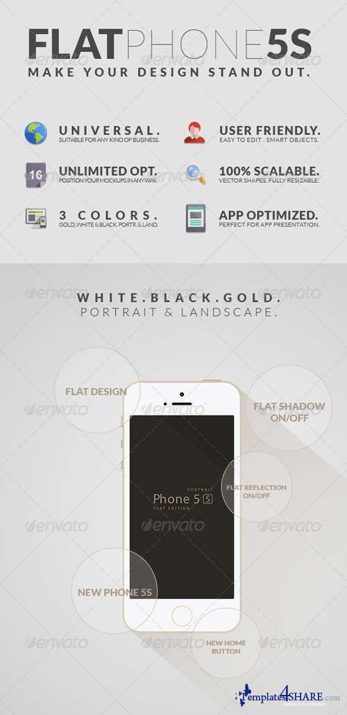 GraphicRiver Flat Phone 5S Mockups