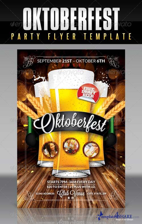 GraphicRiver Oktoberfest Flyer Template 5570670