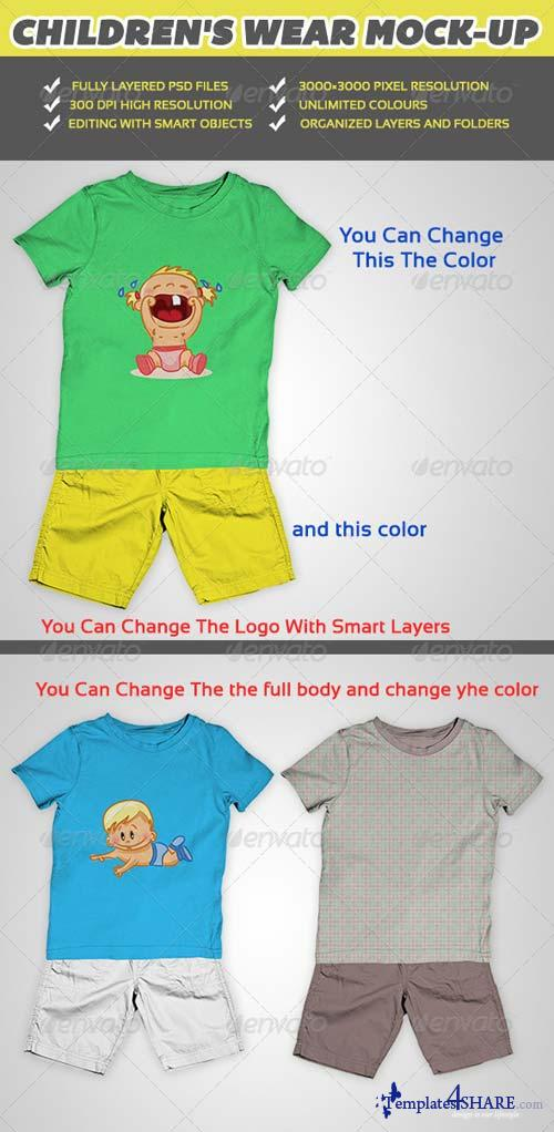 GraphicRiver Children Wear Mock-Up V1