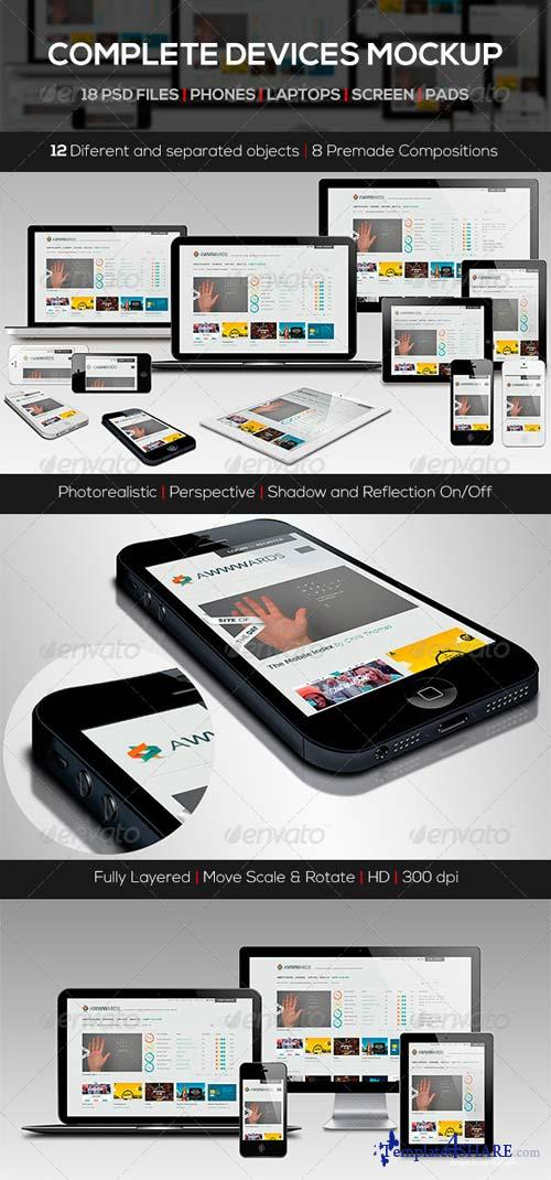 GraphicRiver Responsive Screen Devices Mock-up Pack