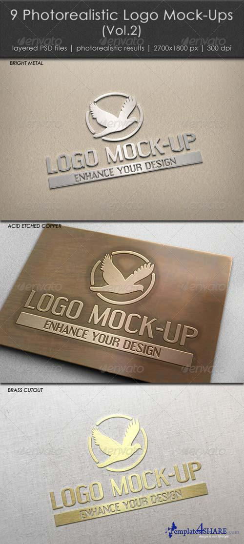 GraphicRiver 9 Photorealistic Logo Mock-Ups (Vol.2)