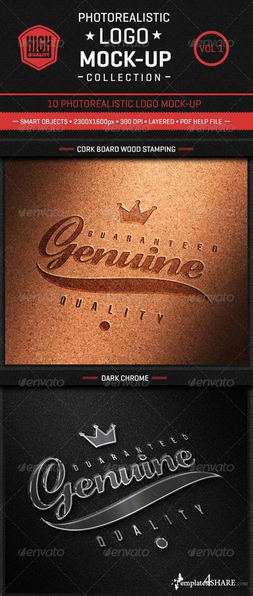 GraphicRiver Photorealistic Logo Mock-Up Collection Vol1