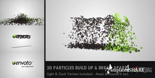 3D Particles Logo Build Up & Break Apart Intro - After Effects Project (Videohive)