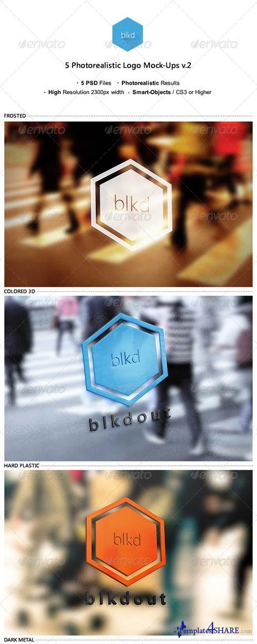 GraphicRiver 5 Photorealistic Logo Mock-Ups v.2