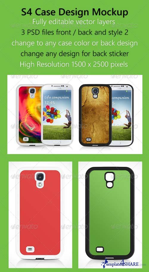 GraphicRiver S4 Case Design Mockup