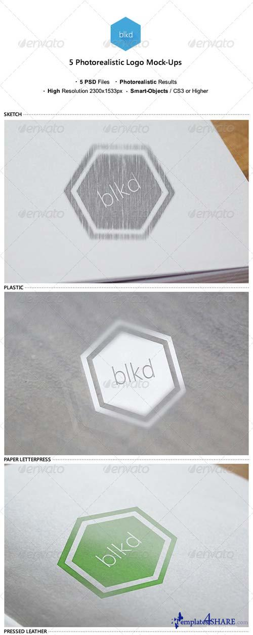 GraphicRiver 5 Photorealistic Logo Mock-Ups v.1