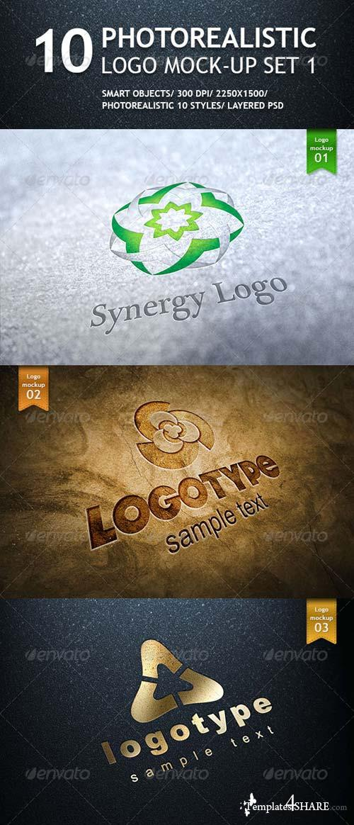 GraphicRiver 10 Realistic Logo Mockups - Smart Template V.1