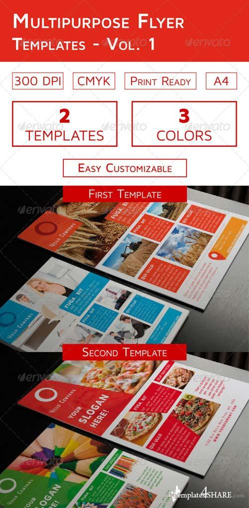 GraphicRiver Multipurpose Flyer Templates - Vol. 1