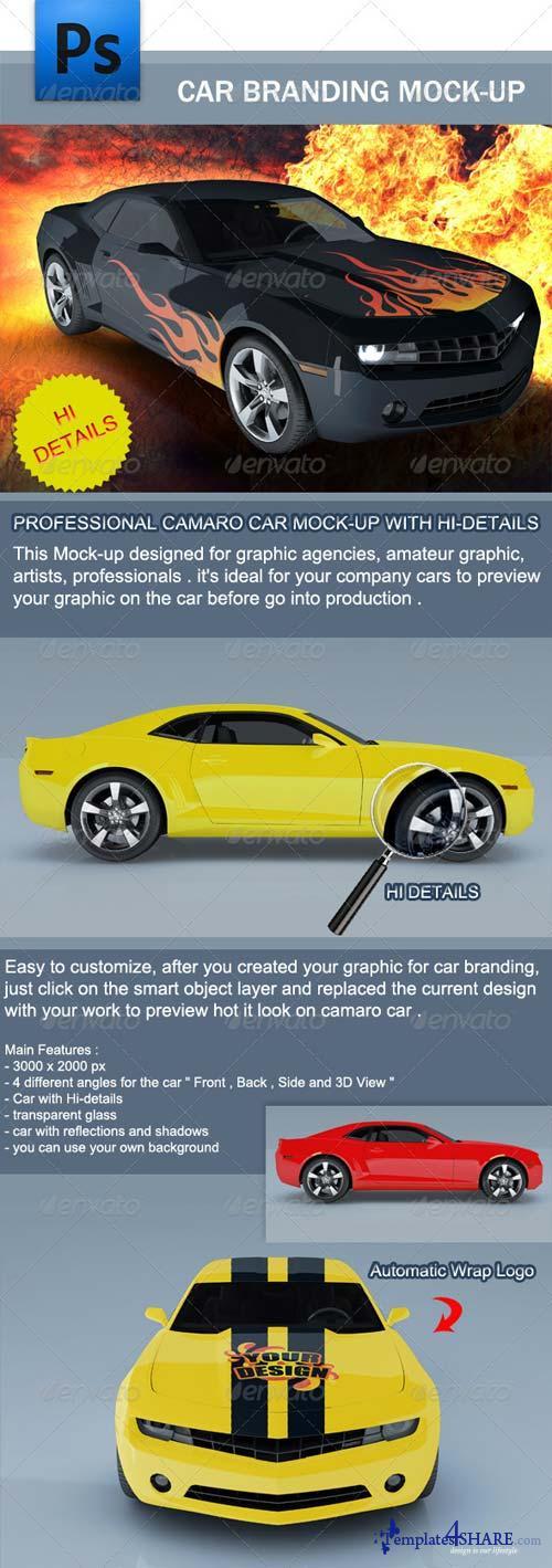 GraphicRiver Camaro Car Branding Mock-up
