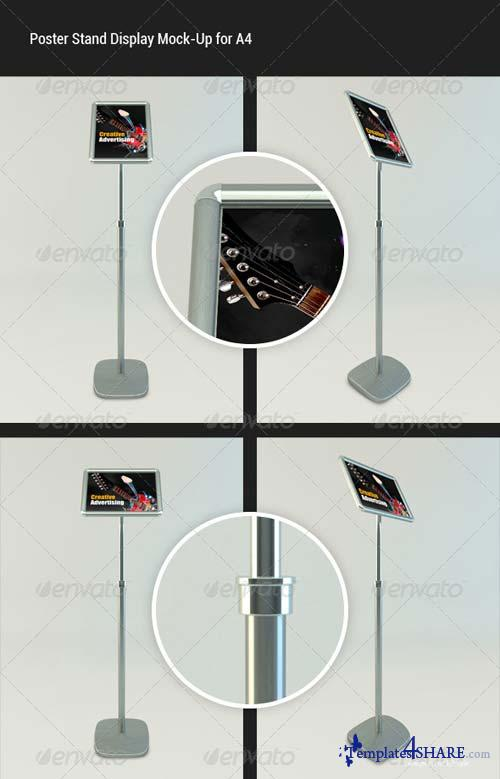 GraphicRiver Poster Standing Display Mock-Up