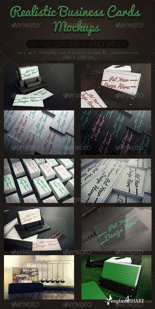 GraphicRiver Realistic Business Cards Mockups