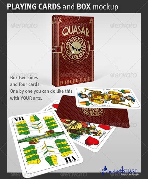 GraphicRiver Playing Card - Business Card and Box Mockup