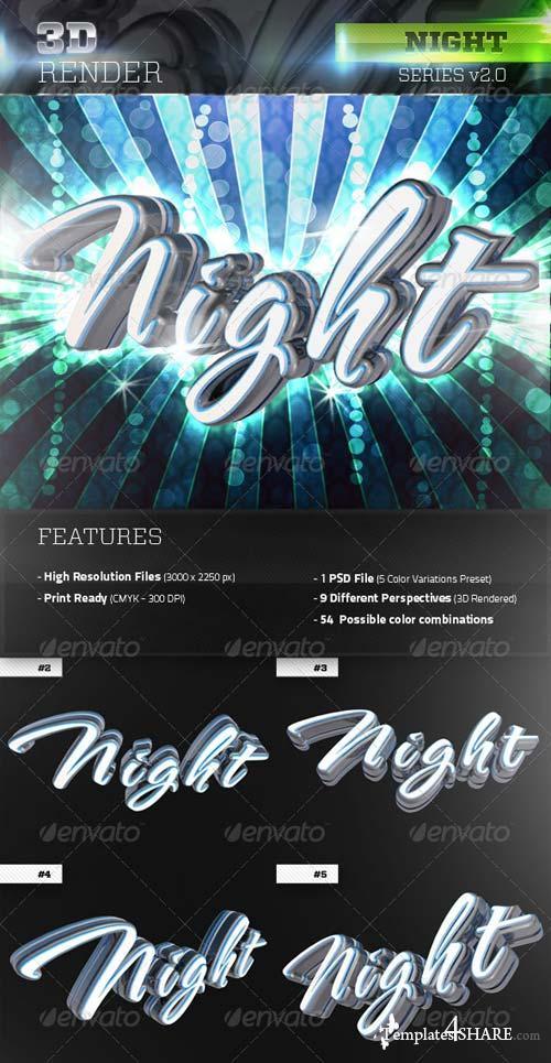 GraphicRiver 3D Night