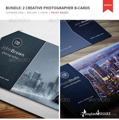GraphicRiver Bundle - 2 Creative Photographer Business Cards