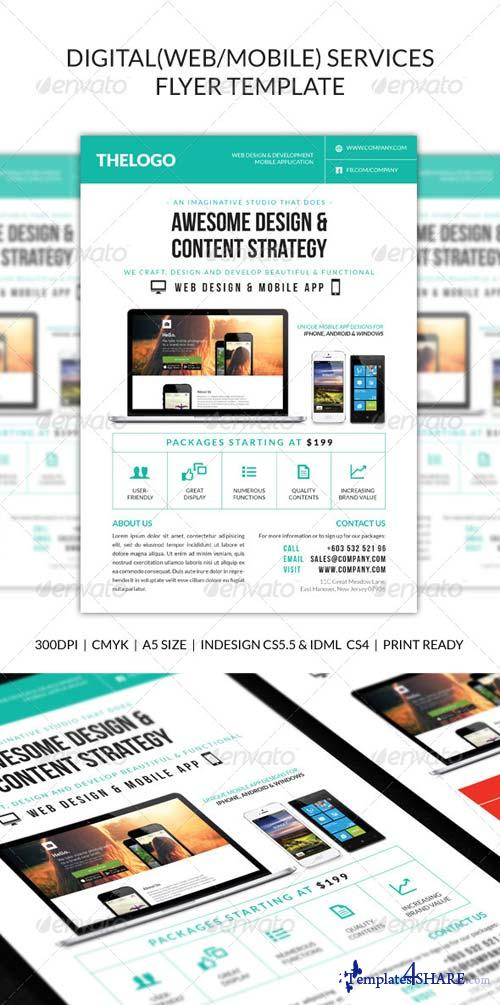 GraphicRiver Digital (Web/Mobile) Design Services Flyer