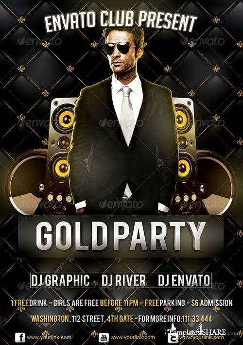 GraphicRiver Gold Party Flyer Template