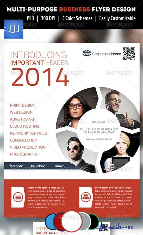 GraphicRiver Multipurpose Business Flyer 12