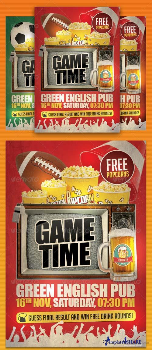 GraphicRiver Game Day Party Flyer Template