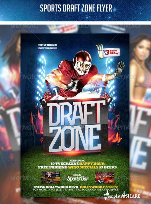 GraphicRiver Sports Draft Zone Flyer