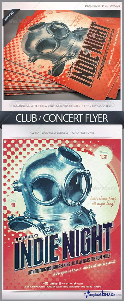 GraphicRiver Indie Night Flyer 5633558