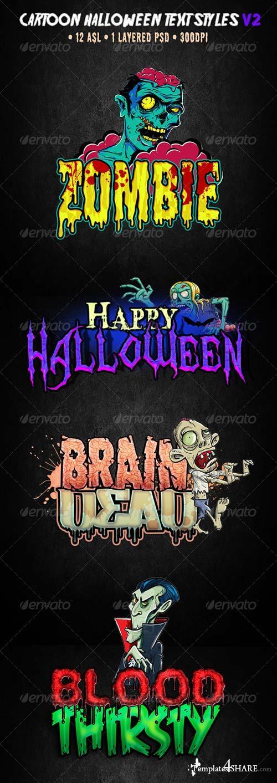 GraphicRiver Cartoon Halloween Text Effect V2