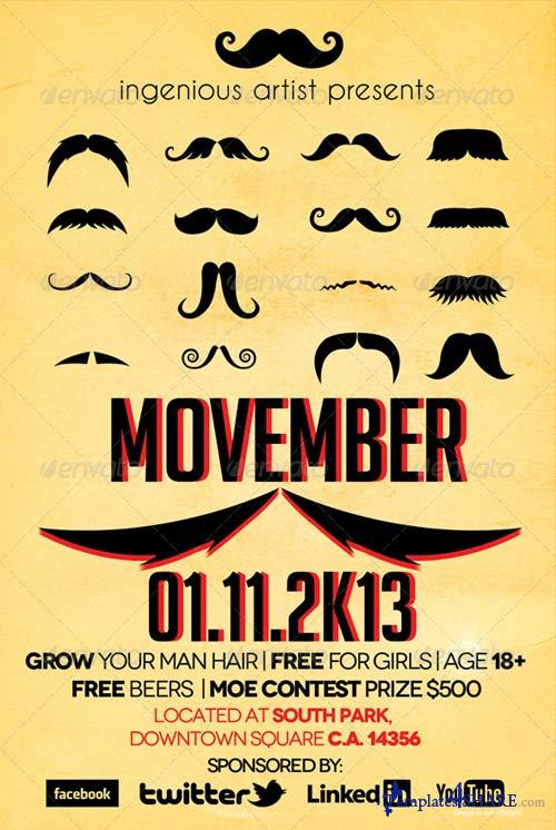 GraphicRiver Movember Flyer Vol.1