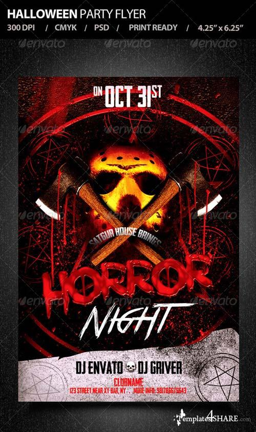 GraphicRiver Halloween Party Flyer V3