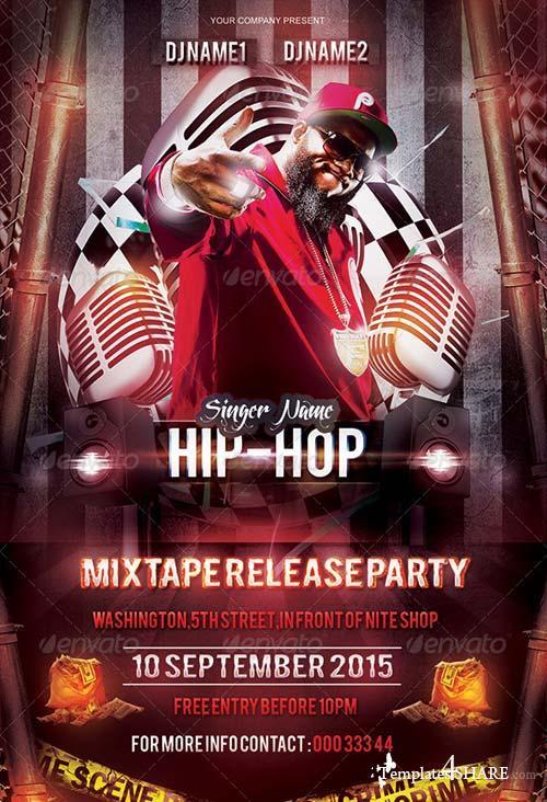 GraphicRiver Mixtape/Album Release Party Flyer Template
