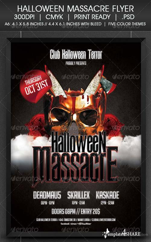 GraphicRiver Halloween Massacre Flyer