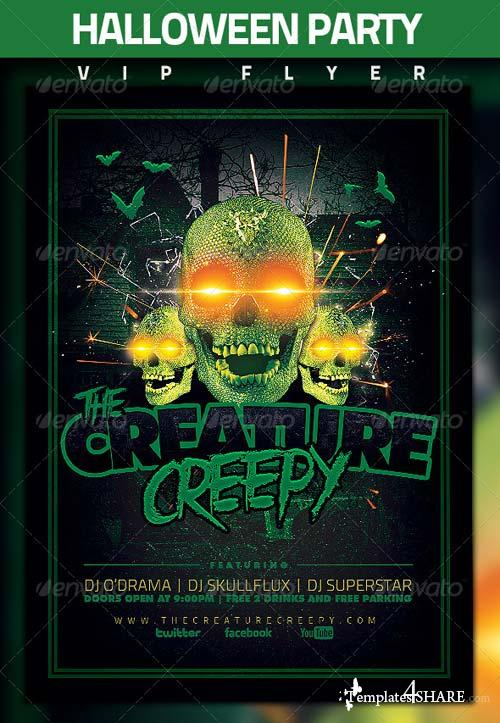 GraphicRiver Halloween Party Flyer 5543570