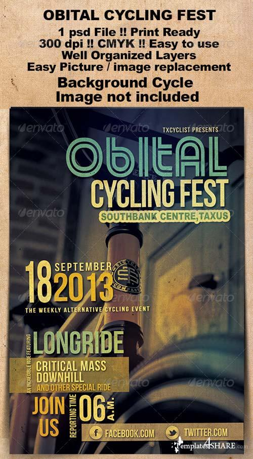 GraphicRiver Obital Cycling Fest Flyer