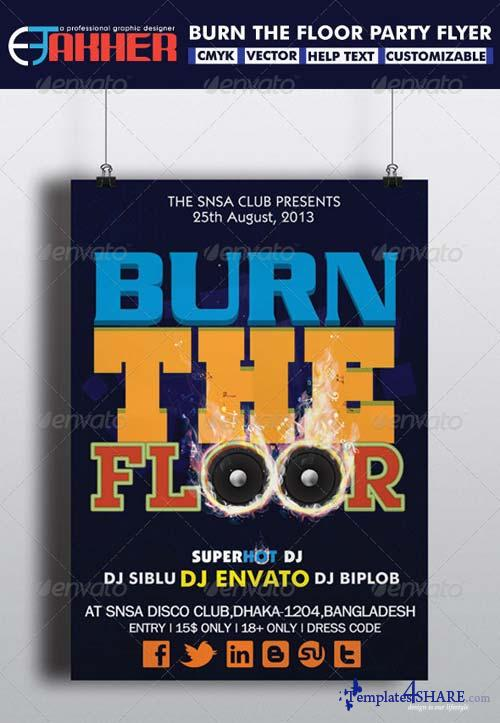 GraphicRiver Burn The Floor Party Flyer