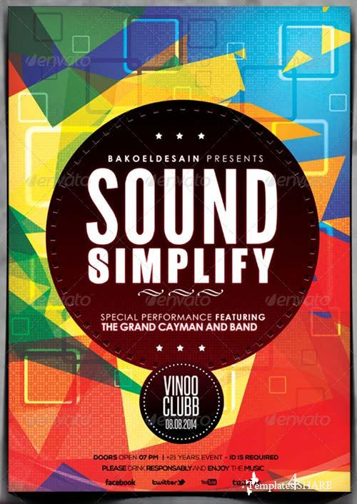 GraphicRiver Minimal Music Flyer Volume 3