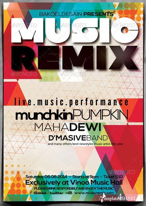 GraphicRiver Minimal Music Flyer Volume 4