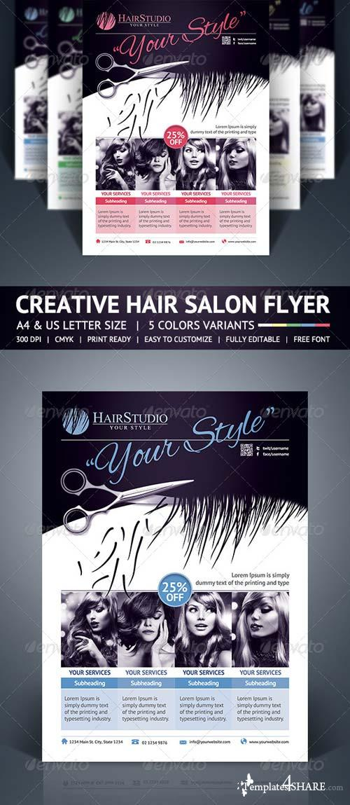 GraphicRiver Hair Salon Flyer