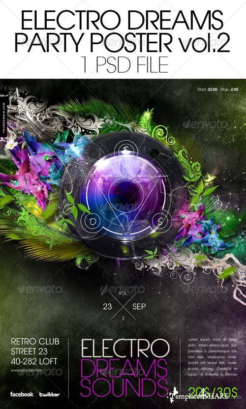 GraphicRiver Electro Dreams Poster vol. 2