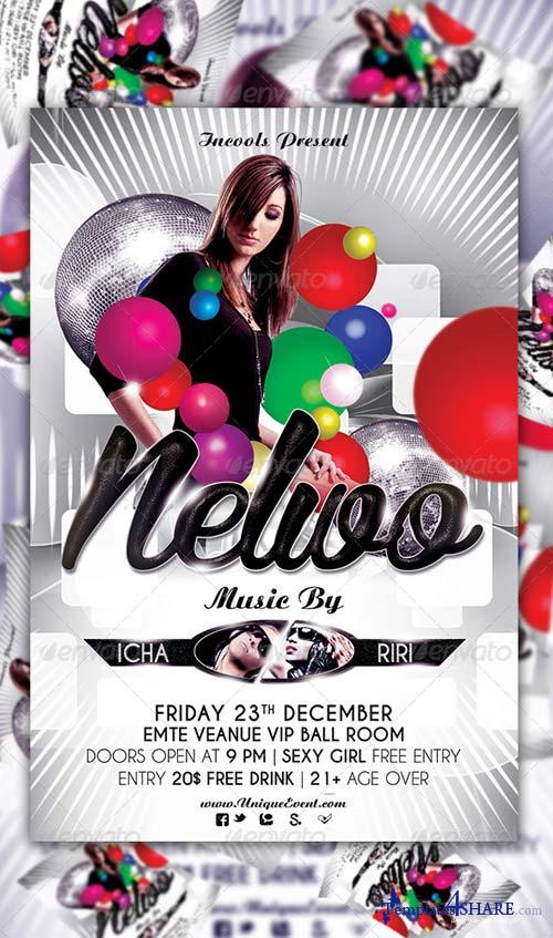 GraphicRiver Nelwo Party Flyer Template