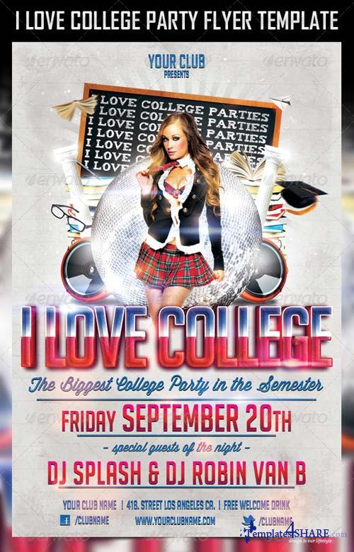 GraphicRiver College Party Flyer Template