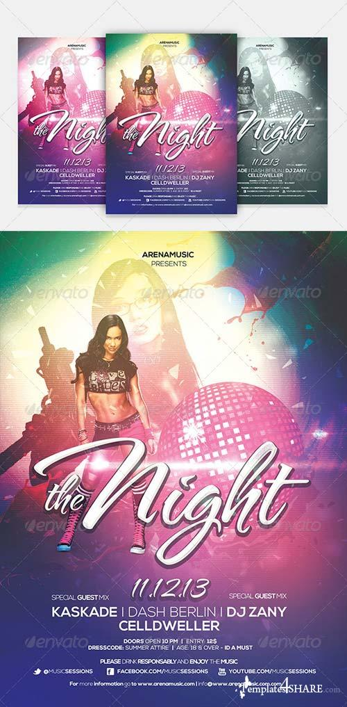 GraphicRiver The Night Flyer Template