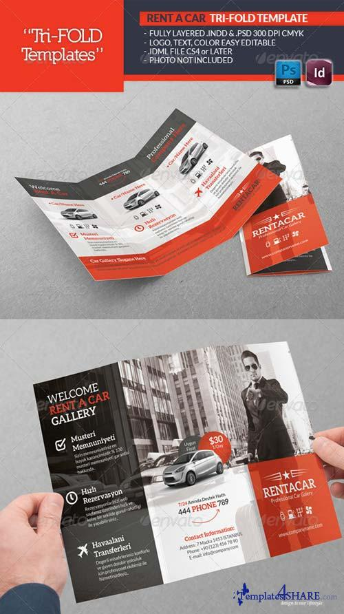 GraphicRiver Rent A Car Tri-Fold Template