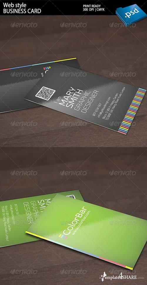 GraphicRiver Web Style Business Card