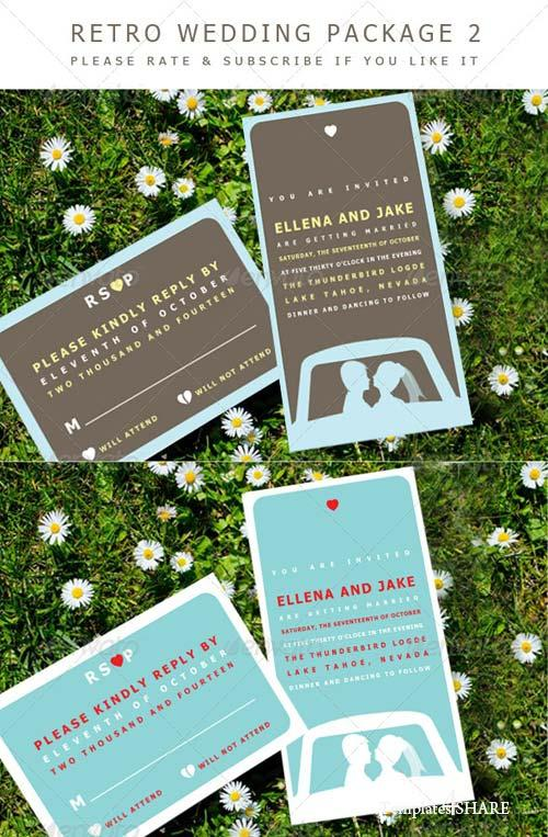 GraphicRiver Retro Wedding 2