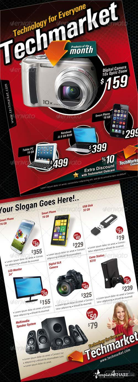 GraphicRiver Technology Market Sales Flyer