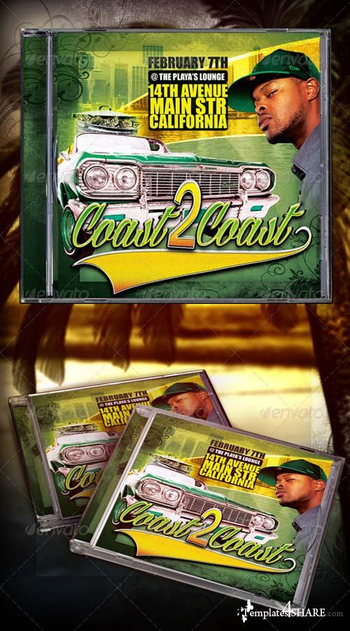 GraphicRiver Coast 2 Coast Mixtape/CD Template
