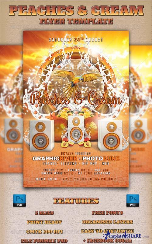 GraphicRiver Peaches & Cream Flyer Template