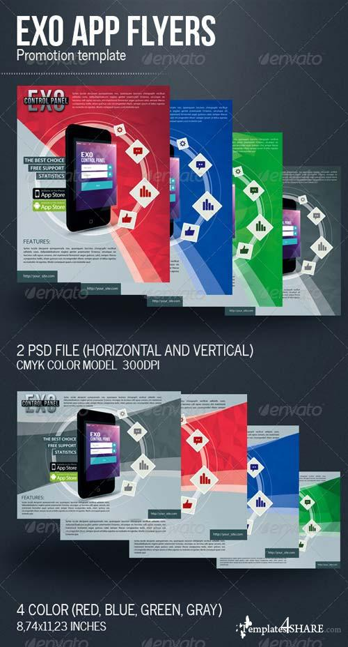 GraphicRiver Exo App Flyers