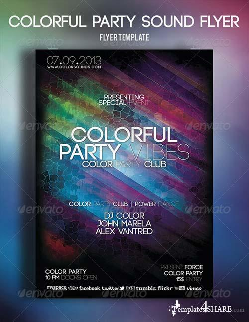 GraphicRiver Colorful Party Sound Flyer