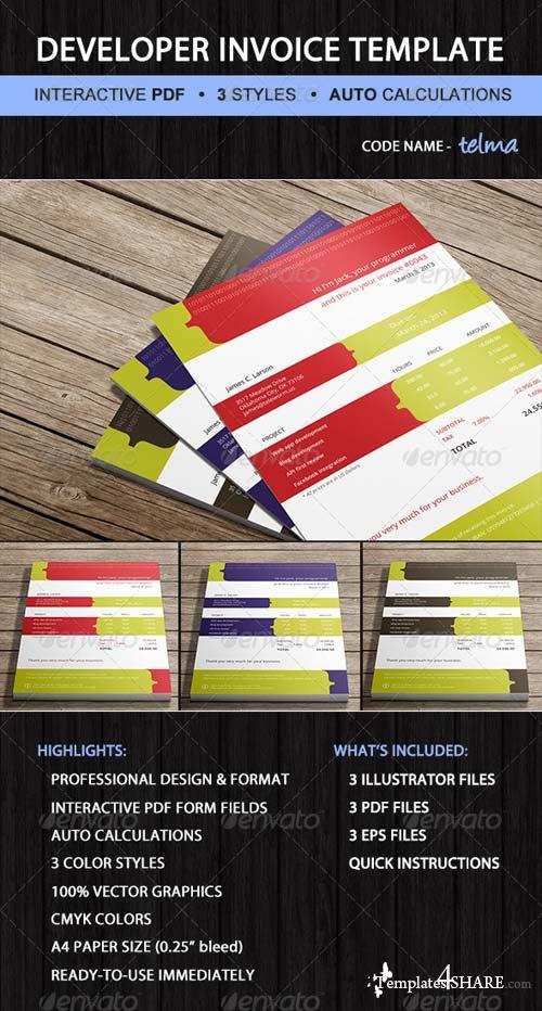 GraphicRiver Invoice - Software Developer