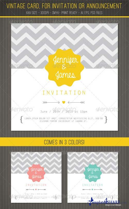 GraphicRiver Vintage card for Invitation or Announcement