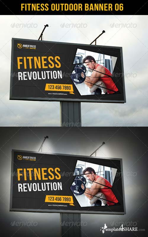 GraphicRiver Fitness Outdoor Banner 06